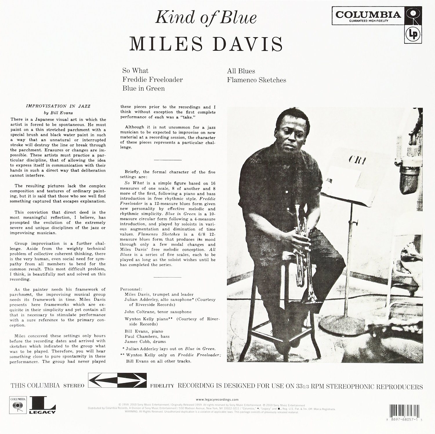 Disco de Vinil Miles Davis Kind of Blue 180 gramas