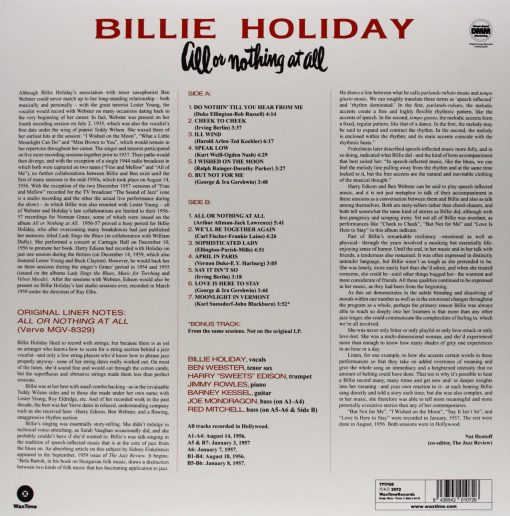 Disco de Vinil Billie Holiday All Or Nothing at All