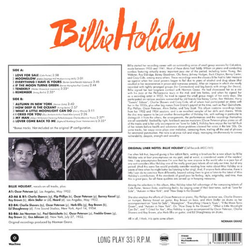 Disco de Vinil Billie Holiday - Billie Holiday