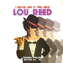 Disco de Vinil Lou Reed - I Never Said It Was Nice: Orpheum Theater, Boston Massachusetts '76