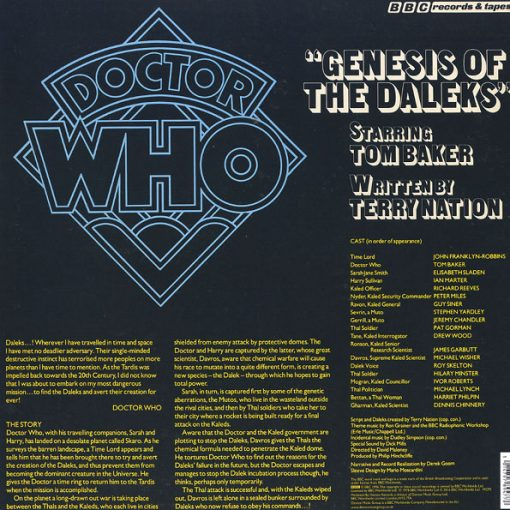 Disco de Vinil Doctor Who - Genesis Of The Daleks
