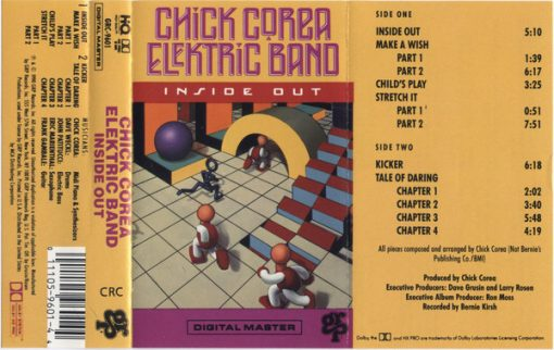 Fita Cassete k7 The Chick Corea Elektric Band ‎– Inside Out